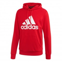 Adidas Must Haves Badge Of Sport Hoodie Férfi Pulóver (Piros-Fehér) FR7106