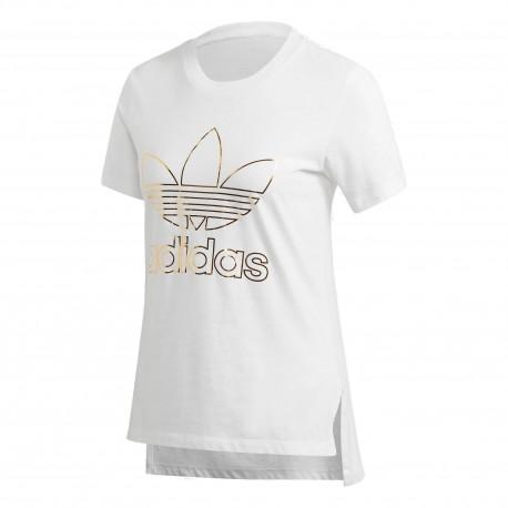 Adidas Originals Trefoil Tee Női Póló (Fehér Fekete) CV9889