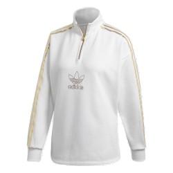 Adidas Originals Quarter Zip Női Pulóver (Fehér-Arany) GK1723