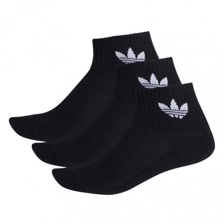 Adidas Originals Mid Cut Ankle Socks 3 Páras Zokni (Fekete-Fehér) FM0643