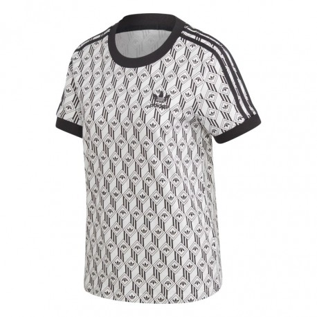 Adidas Originals 3 Stripes Tee Női Póló (Fekete-Fehér) FM1070