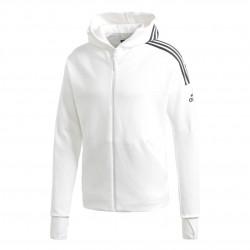Adidas ZNE 3 Stripes Hoodie Férfi Felső (Fehér-Fekete) FL3983