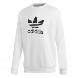 Adidas Originals Trefoil Crew Férfi Pulóver (Fehér-Fekete) DV1544