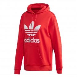 Adidas Originals Adicolor Trefoil Hoodie Női Pulóver (Piros-Fehér) FM3298