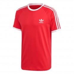 Adidas Originals 3 Stripes Tee Férfi Póló (Piros-Fehér) FM3770