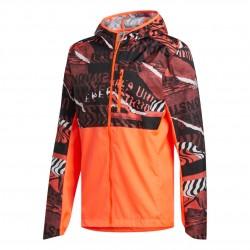 Adidas Own The Run Graphic Jacket Férfi Futó Kabát (Narancs-Fekete) FL6988