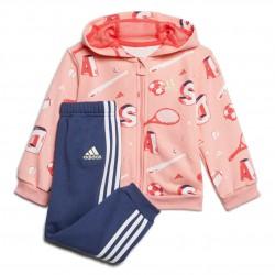 Adidas Graphic Jogger Set Kislány Bébi Együttes (Rózsaszín-Kék) FM6367