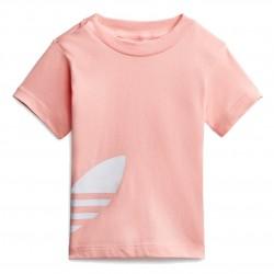 Adidas Originals Big Trefoil Tee Kislány Bébi Póló (Rózsaszín-Fehér) FM5608