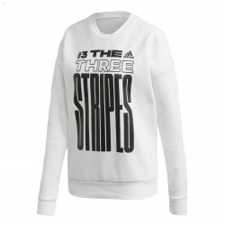 Adidas MH Graphic Sweat Női Pulóver (Fehér-Fekete) FJ5030