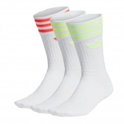 Adidas Originals Solid Crew Socks 3PP 3 Páras Zokni (Fehér-Neon) FM0625
