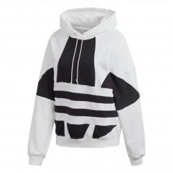 Adidas Originals Large Logo Hoodie Női Pulóver (Fehér-Fekete) FS1306