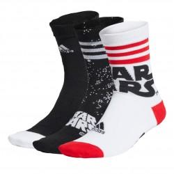 Adidas Star Wars Crew Socks 3PP 3 Páras Zokni (Fekete-Piros-Fehér) FN0978