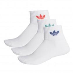 Adidas Originals Mid Ankle Socks 3PP 3 Páras Zokni (Fehér-Színes) FM0642
