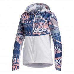 Adidas Own The Run Jacket Női Futó Kabát (Kék-Fehér) FL7259