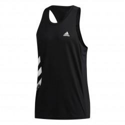 Adidas Own The Run 3 Stripes Singlet Férfi Trikó (Fekete-Fehér) FP7540