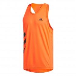 Adidas Own The Run 3 Stripes Singlet Férfi Trikó (Narancs-Fekete) FQ2530