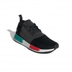 Adidas Originals NMD R1 Férfi Cipő (Fekete-Zöld-Piros) EF4260