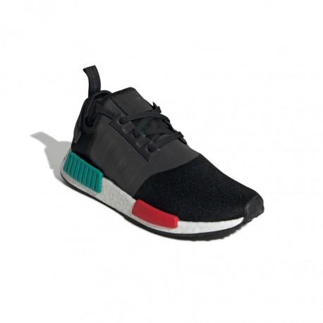 Adidas Originals NMD R1 Férfi Cipő (Fekete Zöld Piros) EF4260
