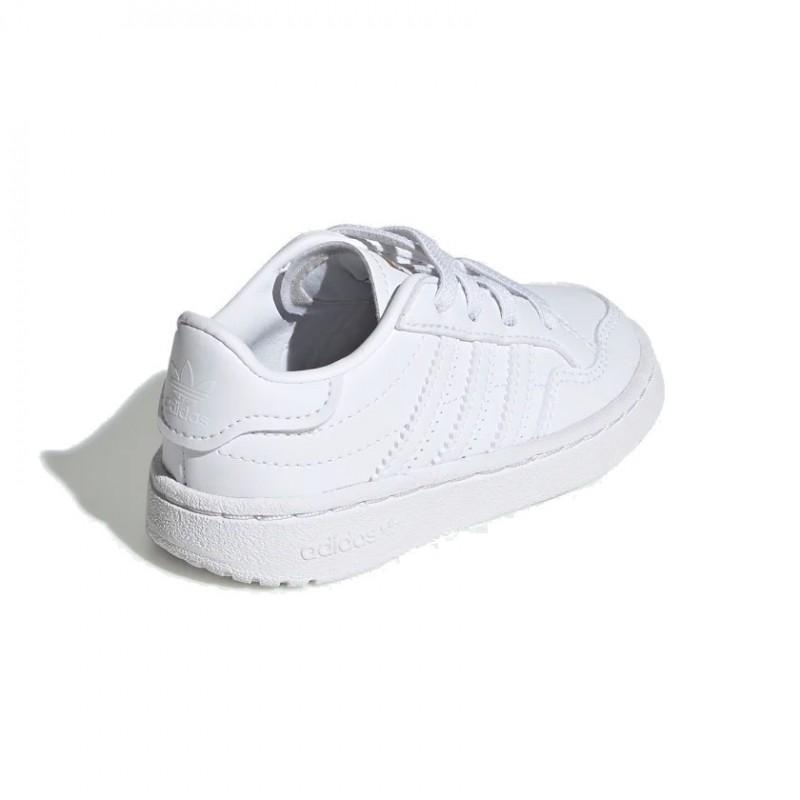 Adidas Originals Team Court EL I Uniszex Gyerek Cipő (Fehér