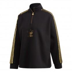 Adidas Originals Quarter Zip Női Pulóver (Fekete-Arany) GK1726