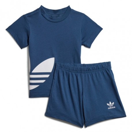 Adidas Originals Big Trefoil STS Kisfiú Bébi Nyári Együttes (Kék-Fehér) FM5605