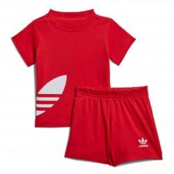 Adidas Originals Big Trefoil STS Kislány Bébi Nyári Együttes (Piros-Fehér) FM5610