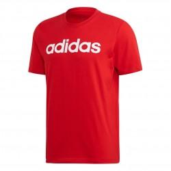 Adidas Essentials Linear Tee Férfi Póló (Piros-Fehér) FM6223