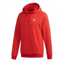 Adidas Originals Mono AOP Hoodie Férfi Pulóver (Piros) FM3407