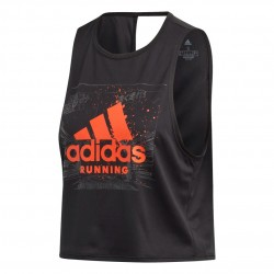 Adidas Fast Graphic Crop Tee Női Trikó (Fekete-Narancs) FJ4989
