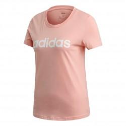 Adidas Essentials Linear Slim Tee Női Póló (Rózsaszín-Fehér) FM6423