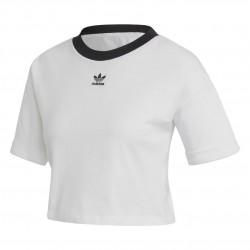 Adidas Originals Crop Top Női Rövidített Póló (Fehér-Fekete) FM2556