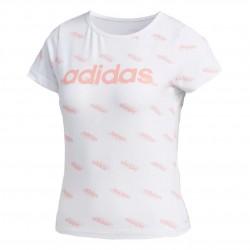 Adidas Favorites Tee Női Póló (Fehér-Rózsaszín) FM6190