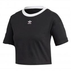 Adidas Originals Crop Top Női Rövidített Póló (Fekete-Fehér) FM2557